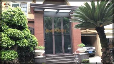 东湖花园阳光房配超高折叠门