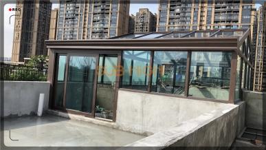 绿地锦天府100型阳光房安装完毕!