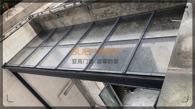 合景誉峰顶楼系统阳光房施工照片