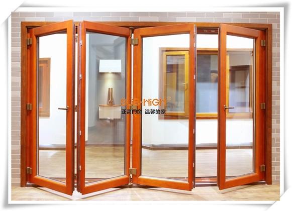 木铝复合折叠门