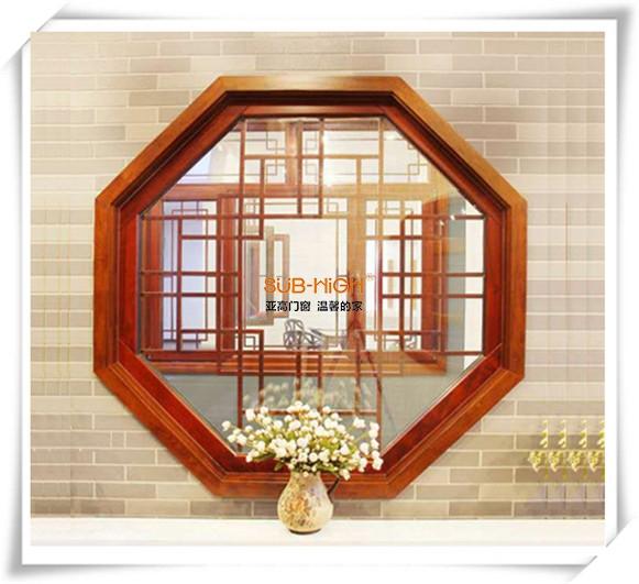 仿古实木异型窗