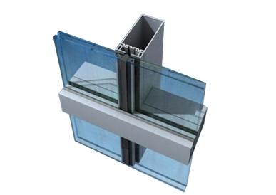 半隐框玻璃幕墙